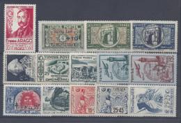 TUNISIE - 1948-50 -   N° 324 à 337 -  XX - X - TB - - Unused Stamps