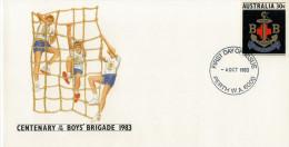 CENTENARY  OF THE BOYS  BRIGADE  1983     (FDC) - Primo Giorno D'emissione (FDC)