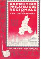 Daguin Expo Philathelie 8/06/1935 Avec Correspondance - Châlons-sur-Marne