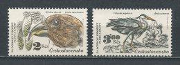 TCHECOSLOVAQUIE 1983 N° 2532/2533 ** Neufs  = MNH  Superbes Cote 3,20 € Faune Oiseaux  Birds Animaux Fauna - Tchécoslovaquie