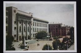 Uzbekistan. TASHKENT. Central Post Office And Telegraf. OLD PC 1953 - Rare! - - Uzbekistan