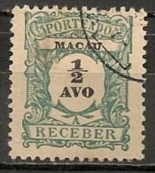 Timbres - Portugal - Macao - 1919 - Taxe - Receber - 1/2 Avo - - Macao