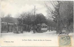 PARIS 12°  Cpa (75 )  Entrée Du Bois De Vincennes Tramway à La Poprte Dorée - Paris (12)
