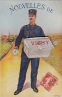 03  VICHY  CPA SYSTEME Complet  10 VUES Dans Le SAC Du FACTEUR  Timbré 1913 - Vichy