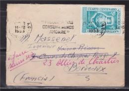 = Argentine à Bordeaux Enveloppe 11 12 1953 - Argentina