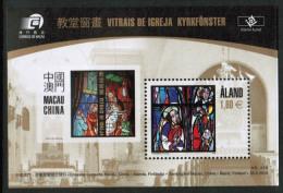 2010 Aland Islands, Church Window Block ** - Aland