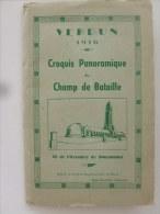 VERDUN 1916 - CROQUIS PANORAMIQUE DU CHAMP DE BATAILLE