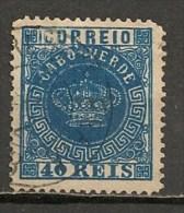 Timbres - Portugal - Cap Vert - 1877 - 40 Reis - - Cap Vert