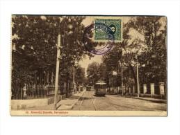 Paraguay - Avenida Espana - Belvedere - NICE STAMP - Tram Train Treno - Paraguay