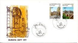 LUXEMBOURG. N°895-6 Sur Enveloppe 1er Jour De 1977. Vues De La Ville De Luxembourg/Pont Adolphe. - 1977