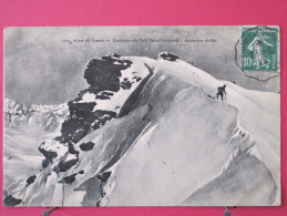 73 - Environs Du Petit St Bernard - Ascension En Ski - Convoyeur Bourg St Maurice à St Pierre D'Albigny - Recto-verso - France