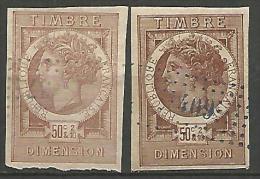 FISCAUX  DIMENSION TYPE MONNAIES SYRACUSAINE D'OUDINE N°43 BRUN CLAIR ET FONCE - Revenue Stamps