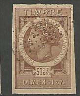 FISCAUX  DIMENSION TYPE MONNAIES SYRACUSAINE D´OUDINE N°43 BRUN  FONCE - Revenue Stamps