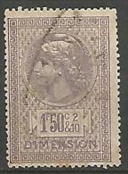 FISCAUX  DIMENSION TYPE MONNAIES SYRACUSAINE D´OUDINE DENTELES N°  50 - Revenue Stamps