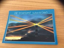 """CPM """"OUESSANT - Le Phare Du Créac'h"""" (soleil Couchant) - Ouessant"""