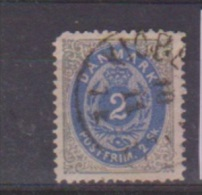 Danemark //  N 16  //  2 S Gris  //  Oblitéré  // - 1864-04 (Christian IX)