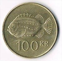Iceland 1995 100 Kronur - Coins & Banknotes