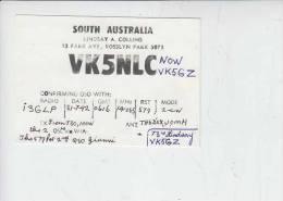 SOUTH AUSTRALIA - RADIOAMATORI 1992  QSL - Australia