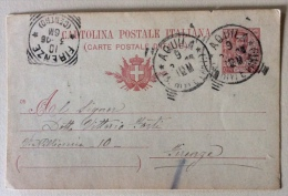 Cartolina Postale Italiana 1906 Timbri Firenze E Aquila - Poste & Postini