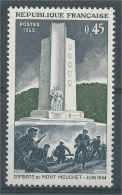 France, World War II, French Resistance, Mont Mouchet, 1969, MNH VF - Ongebruikt