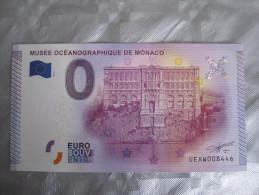 Billet Souvenir - Musée Océanographique De MONACO- 2015 Prix 4 € - Monnaie De Paris