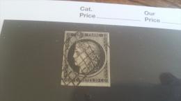 LOT 257934 TIMBRE DE FRANCE OBLITERE N�3 VALEUR 60 EUROS