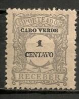 Timbres - Portugal - Cap Vert - 1921 - Taxe - Receber - 1 Centavo - - Cap Vert