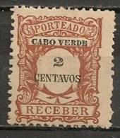 Timbres - Portugal - Cap Vert - 1921 - Taxe - Receber - 2 Centavos - - Cap Vert
