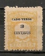 Timbres - Portugal - Cap Vert - 1921 - Taxe - Receber - 3 Centavos - - Cap Vert