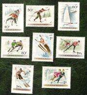 HONGRIE - YT Aérien N°181 à 188 - Patinage Sur Glace / Sports - 1955 - Neufs - Nuovi