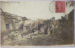CPA Carte Photo Evènement Catastrophe Village 1905 CRAVANT Loiret 45 - France