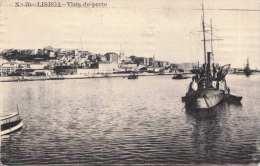 LISBOA Vista Do Porto 1915 Gelaufen Nach Wien - Lisboa