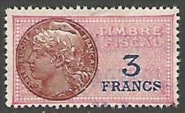FISCAUX    N�  133 VARIETEE S DE FRANCS BRISE