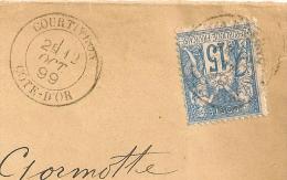 COURTIVRON Cote D' Or Sur Enveloppe SAGE. - Marcophilie (Lettres)