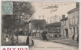 87 -Hte.Viene _Saint -Junien_ le Boulevard p�s de la Poste(  voiture cheval et son Coche