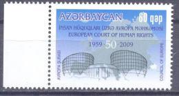 2009. Azerbaijan, 50y Of European Court Of Human Right, 1v,  Mint/** - Azerbeidzjan