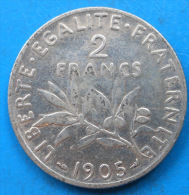PETIT PRIX 2 francs semeuse argent 1905