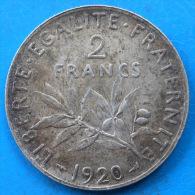 PETIT PRIX 2 francs semeuse argent 1920