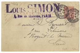 PARIS.105 AV. LEDRU -ROLLIN Sur Entier Semeuse. L2 - Oblitérés