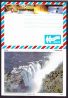 Zimbabwe - 1989 - Tourism, Scenes, Victoria Falls, Ruins, Kariba - Complete Set (6) Of Aerogrammes - Zimbabwe (1980-...)