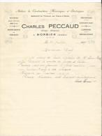 Vieux Papier -Charles Peccaud - Horloger - Mécanicien - Morbier - Jura - Découpage - Estampage - Laminage - France