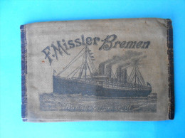 F. MISSLER - BREMEN Germany Antique Canvas Emigrants Ticket And Passport Wallet Late 1800's & Early 1900's * Ship Schiff - Nautique & Maritime