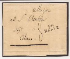 """L. Datée De Tusquet 1810 Avec Marque 96/HERVE + """"8"""" Pour Colmar - 1794-1814 (Période Française)"""