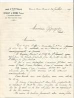 Vieux Papier - Lettre - Epailly Et Michel à Rivière Devant - Par Saint Laurent (jura)- Bois Et électricité - Old Paper