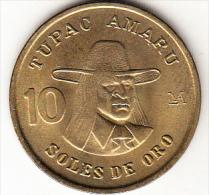 PERÚ 1979   10 SOLES DE ORO. TUPAC AMARU NUEVA SIN CIRCULAR    .CN4324 - Perú