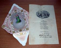 (6 Scans) Rarität --- TAUFBRIEF Aus Dem Jahre 1888 - Klosterarbeit Mit Engelsfigur, Goldprägearbeit Mit Prägeverz. ...