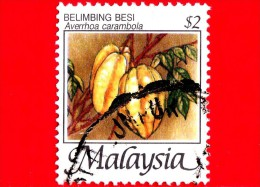 MALESIA - MALAYSIA - Usato - 2005 - Frutti Tropicali - Averrhoa Carambola - 2 - Malesia (1964-...)