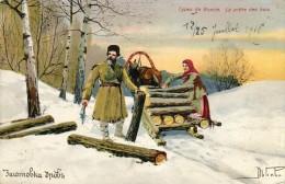 Types De Russie  LA PRETE DES BOIS Traineau     - G - Russia