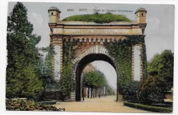 (RECTO/VERSO) METZ - N° 10102 - PORTE ET AVENUE SERPENOISE - TRACE DE DE PAPIER COLLEE - Metz