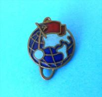 SPACE - Russia Ex Soviet Union Vintage Enamel Pin Badge Espace Cosmos Universe Univers Weltall Universum Anstecknadel - Space